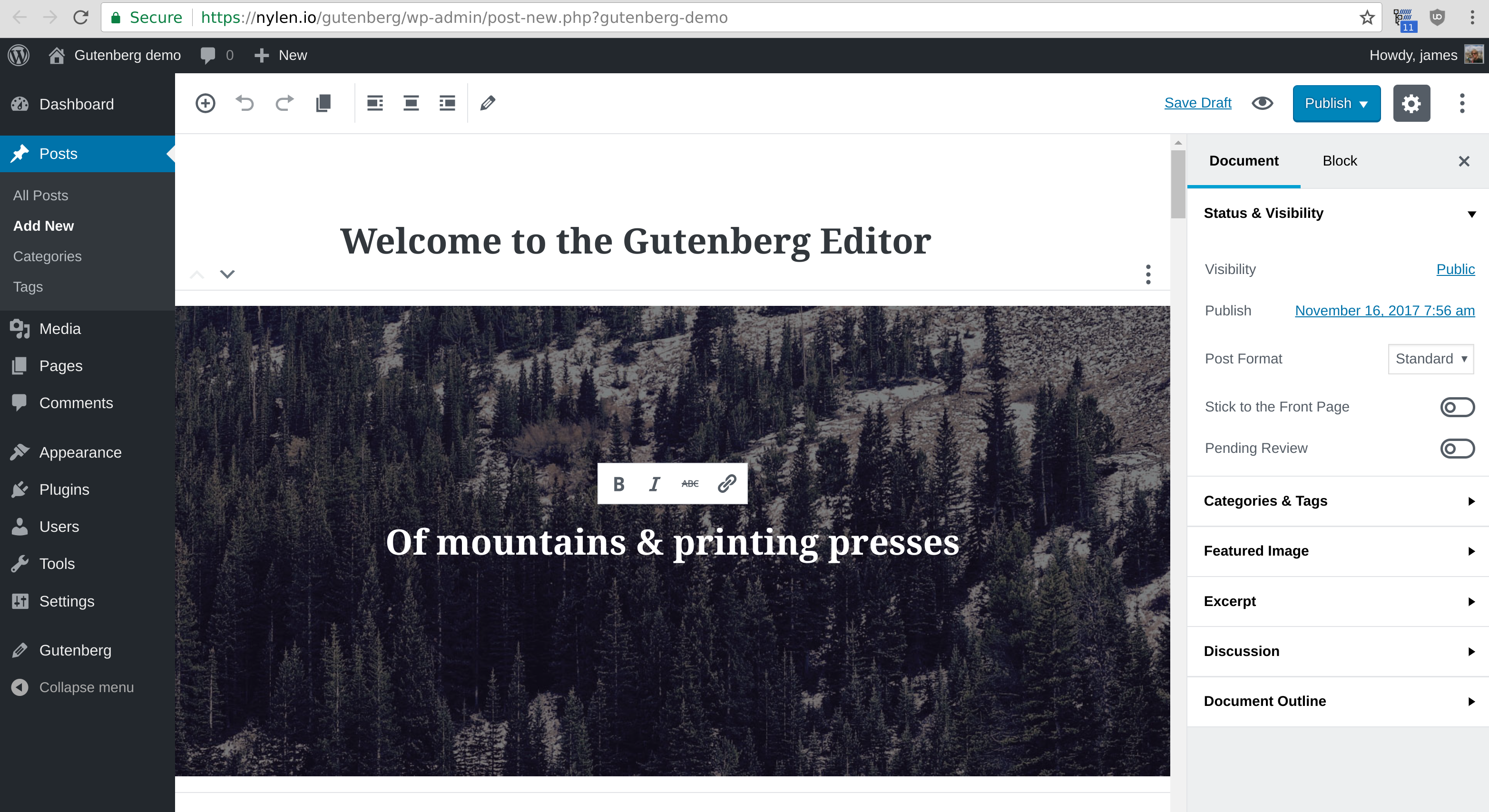 What does Gutenberg actually mean? graphic